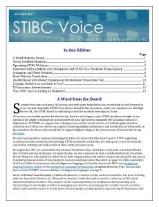 Cover of the October Issue of The Voice